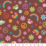 Riley Blake Doodlebug Feeling Groovy Splash Brown