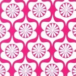 Robert Kaufman Heart Garden Fabric - Bubble Gum Tiles