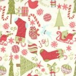 Moda Kate Spain 12 Days of Christmas FLANNEL Fabric - Make a Wish