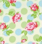 Tanya Whelan Fabric Sugar Hill  Falling Roses Ivory