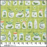 Michael Miller  Backyard Baby Fabric  Bug Jars Green