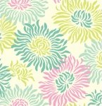 Freshcut 2011 Heather Bailey Graphic Mums Turquoise