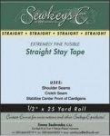 Straight Stay Tape 1/2, Natural