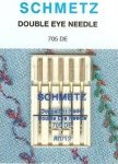 Schmetz Double Eye Needles, 80/12