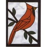 Stained Glass Red Cardinal