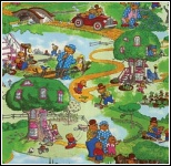 Moda Berenstain Bears Scenic Bear Country