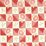 Flowers on Checker Board