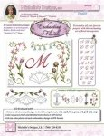 Enchanting Floral Monograms #3743D