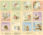 Quilting Treasures-Benjamin Bunny & Peter Rabbit-Maize-20934 S - J-14