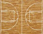 Brown Basketball Court Panel AKQ1154016 by Kaufman