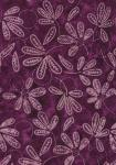 Plum Leaves & Rings Batik B8420 by Hoffman