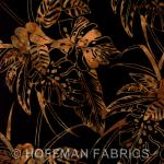 Bali Handpaints Tropical Leaves Antique Black by Hoffman