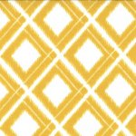 Simply Color - Ikat Diamonds in White and Mustard