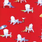 Ocean View - Beach Chairs In Red