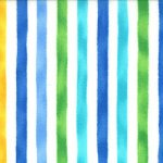 Ocean View - Cabana Stripe In Aqua Blue