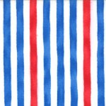 Ocean View - Cabana Stripe In Red Blue