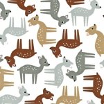 woodland pals fabric, woodland animals, woodland quilting theme, doe fabric, fawn fabric, outdoorsy fabric