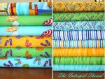 Ocean View - Fat Quarter Bundle In Aqua includes Panel