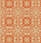 Notting Hill - Historic Tile in Tangerine