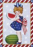 MS1318A Victorian 4th of July Melon