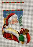 SR5412 Santa Face with Toys Mini Sock