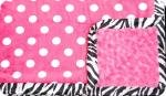 Lexi: White and Hot Pink Polk-A-Dot with Hot Pink Swirl and Shannon Zebra Ruffle