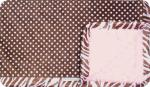 Rylin: Pink and Brown Polk-A-Dot with Pink Swirl and Sydney Pink/Brown Zebra Ruffle