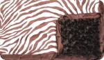 Travis: Brown and Cream Zebra with Brown Swirl and Brown Ruffle