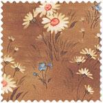 Fabrics: Daisies on brown