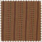 Fabrics: Brown with blue & rust stripe