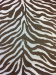 HD39 Zebra Chocolate Jacquard Reverse Faux SILK Fabric