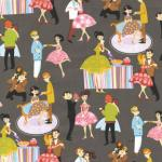 Prom Retro Dance Formal High School Party Print Cotton Fabric Quilt Fabric AB0101