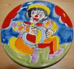 Italy Carnevale Clown Hand Painted Italy Pottery Plate 8 plate BOX51C4