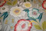Poppy Sketch Modern Large Scale Floral Grey Linen Texture Cotton Linen Fabric Drapery Fabric HDA011OS