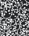 Midnight S410 Modern Retro Twig Sun Black White Outdoor Fabric