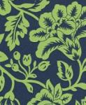 Lime S62  Lime Green Navy Floral Sun Shade Outdoor Fabric