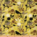 Australia Bold Modern Bird Branch Floral Silhouette Citron Grey Espresso Taupe Ivory Indoor OUTDOOR Sun Safe Famous Maker Outdoor Fabric SRI111