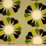 Australia Bold Modern large Scale Block Floral Cream Lime Grey Espresso Indoor OUTDOOR Sun Safe Famous Maker Outdoor Fabric SRI112