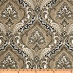 Taj Mahal Royal Paisley Print Indoor and OUTDOOR Sun Safe Famous Maker Outdoor Fabric SRI144
