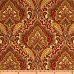 Taj Mahal Royal Paisley Print Indoor and OUTDOOR Sun Safe Famous Maker Outdoor Fabric SRI146