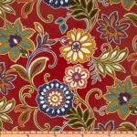 Floral Bold Modern Whimsical Pop! Indoor and OUTDOOR Sun Safe Famous Maker Outdoor Fabric SRI150