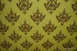 Amy Butler T358 Odyssea Printed Damask Lime and Chocolate Cotton Fabric Quilt Fabric