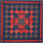 Red and Blue Charm Quilt PDF Download