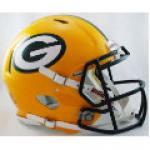 Green Bay Packers Riddell Revolution Speed Full Size Authentic Football Helmet