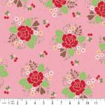 Sew Cherry Main in Pink, Sew Cherry by Lori Holt for Riley Blake