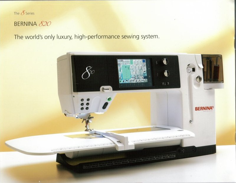 bernina 820 sewing machine