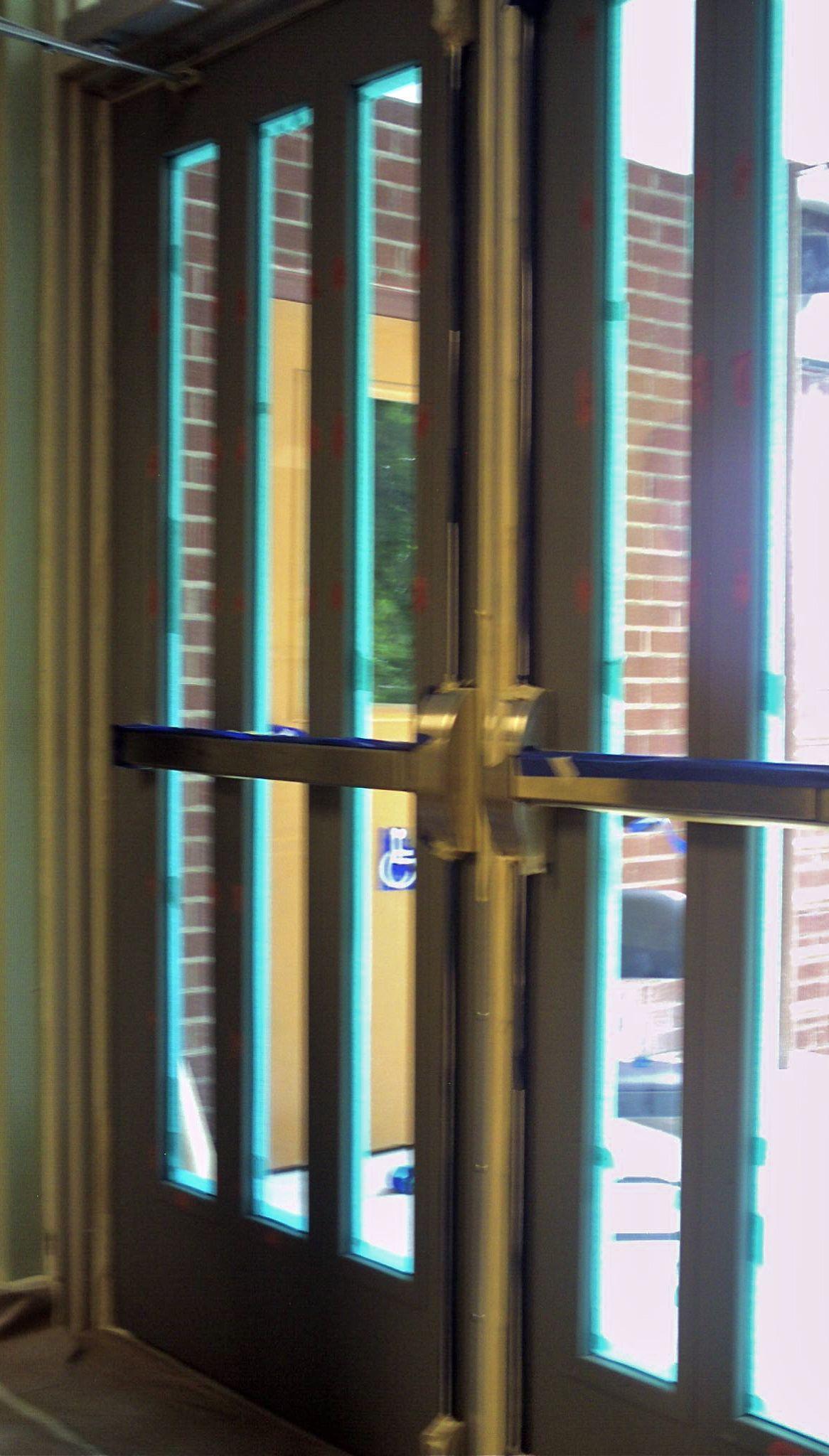 Commercial Interior Metal Doors Wood Grained Doors