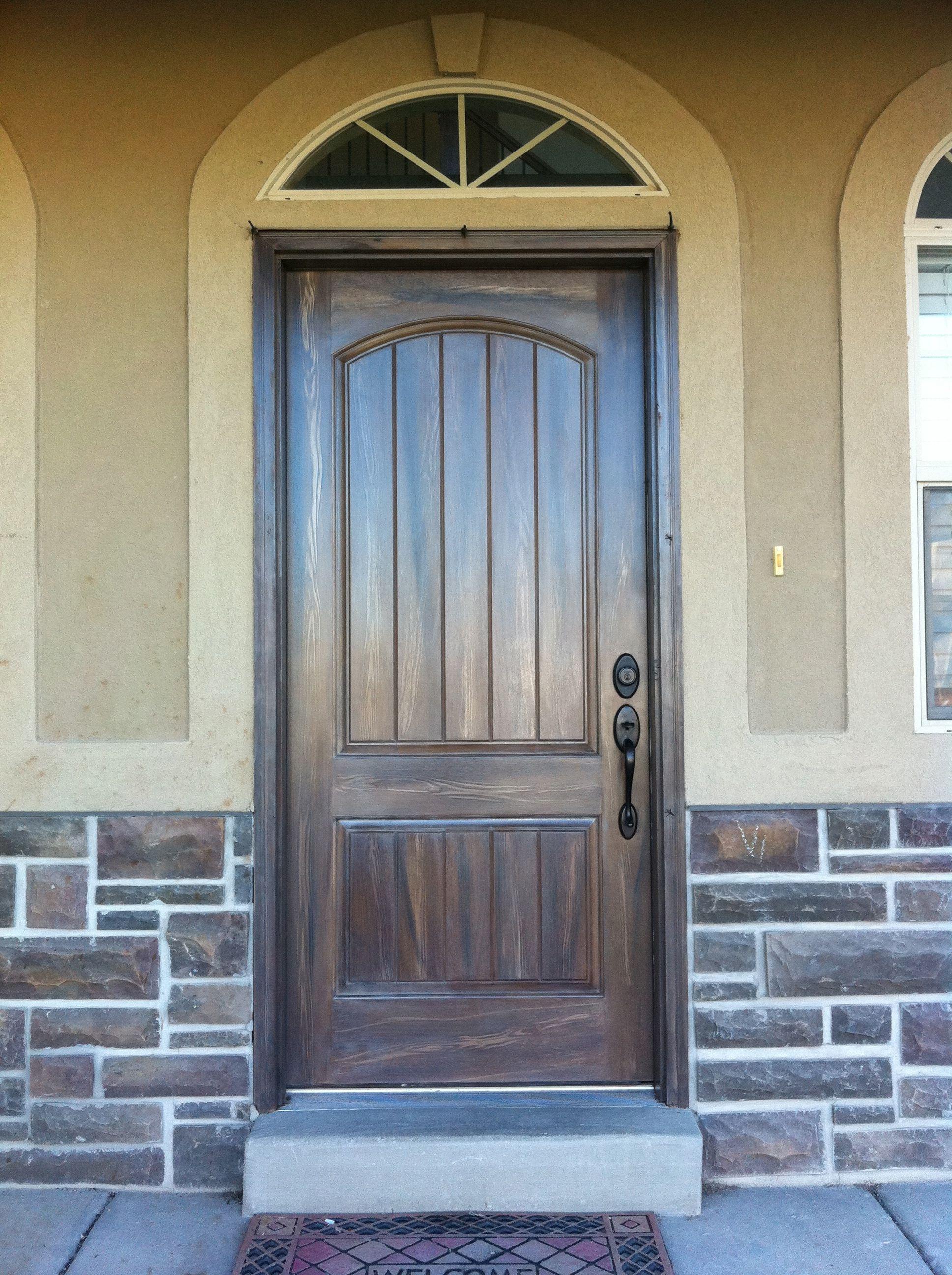 Exterior Fiberglass Doors That Have Been Wood Grained Or