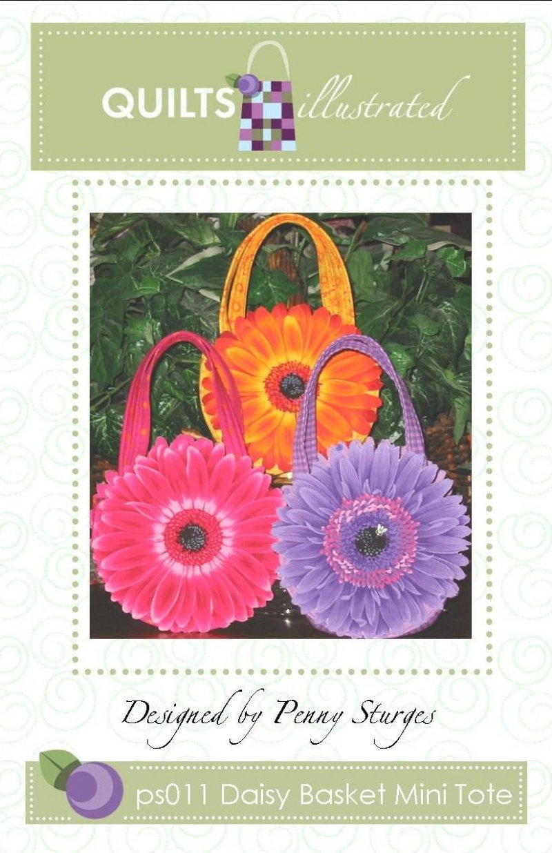ps011 Daisy Basket Mini Tote Pattern