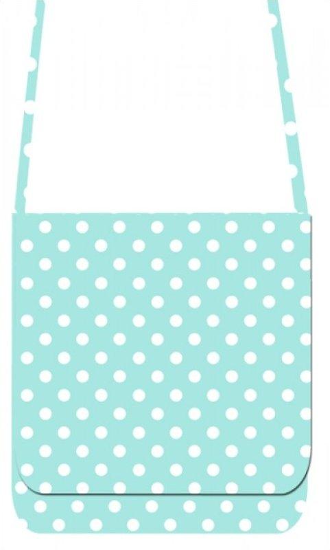 Mini Messenger Kit - LakeHouse Turquoise Polka Dots